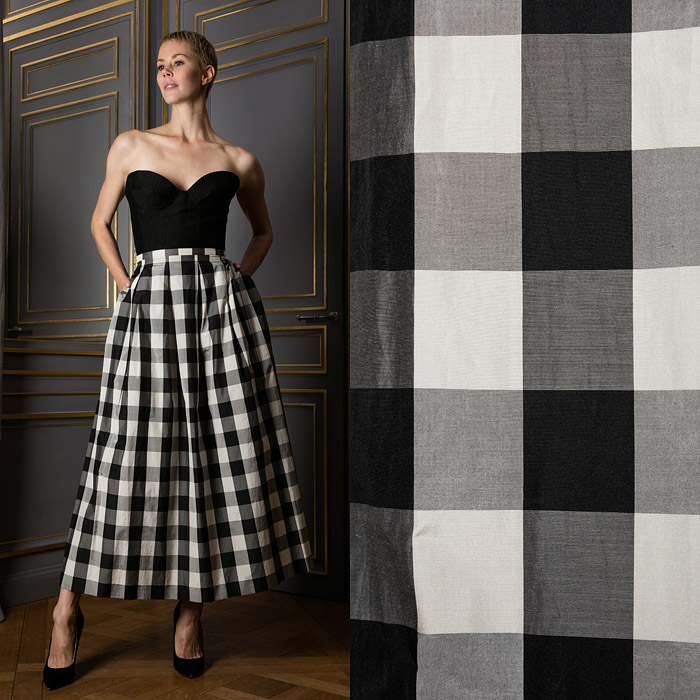 Checkered ankle length skirt