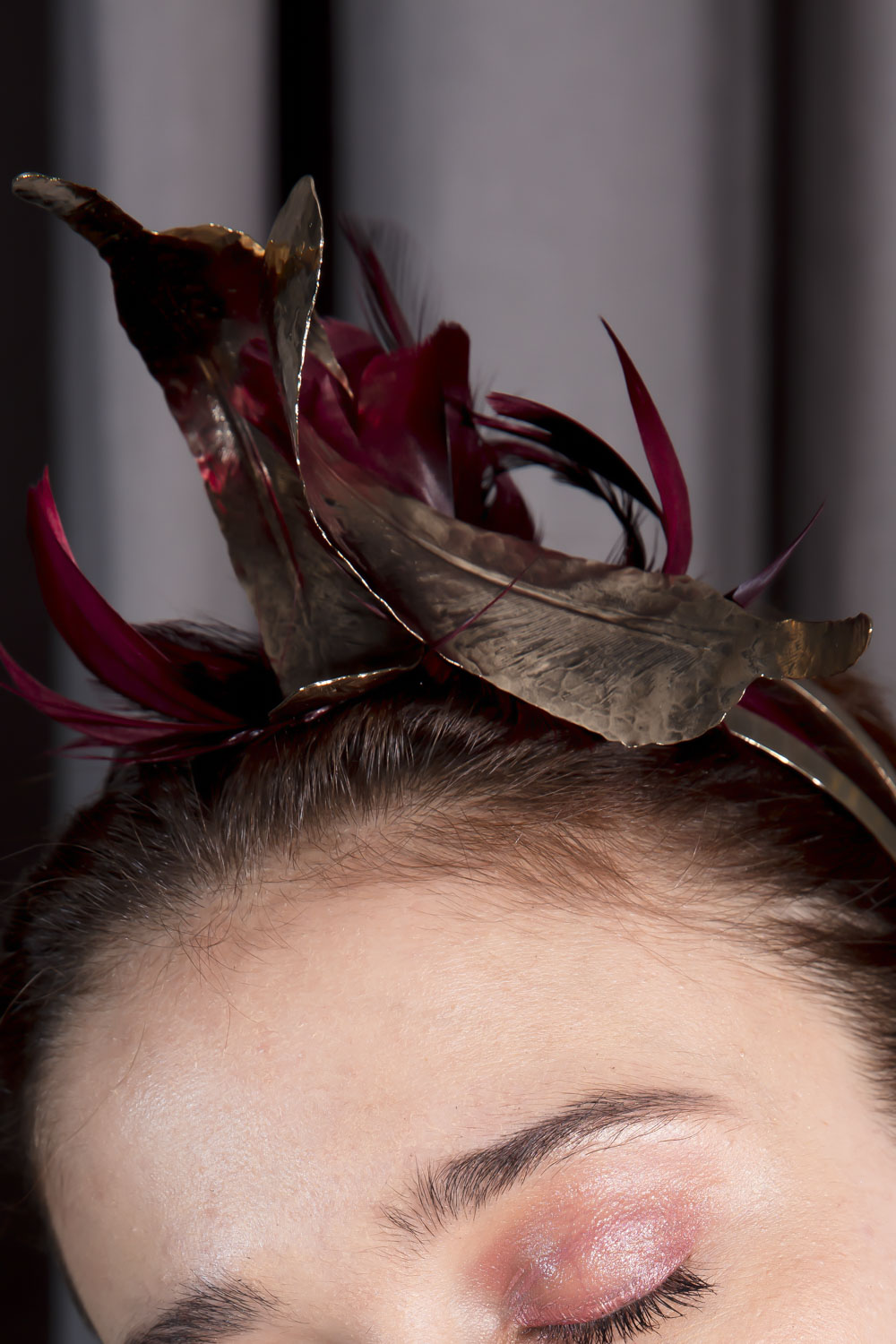 Golden feather headdress